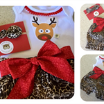 GUSSIE SET - 'Oh Deer', Christmas, Bloomies,  Reindeer