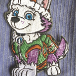 """Snow Dog"" Iron-on Badge"