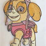 """Sky Dog"" Iron-on Badge"