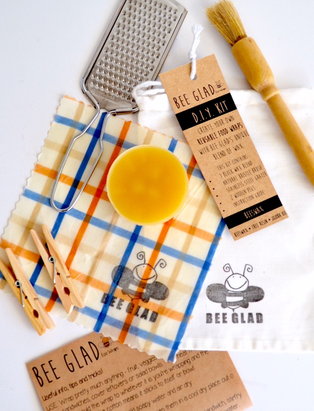 Beeswax D I Y  Food Wrap Kit | Bee Glad on Madeit