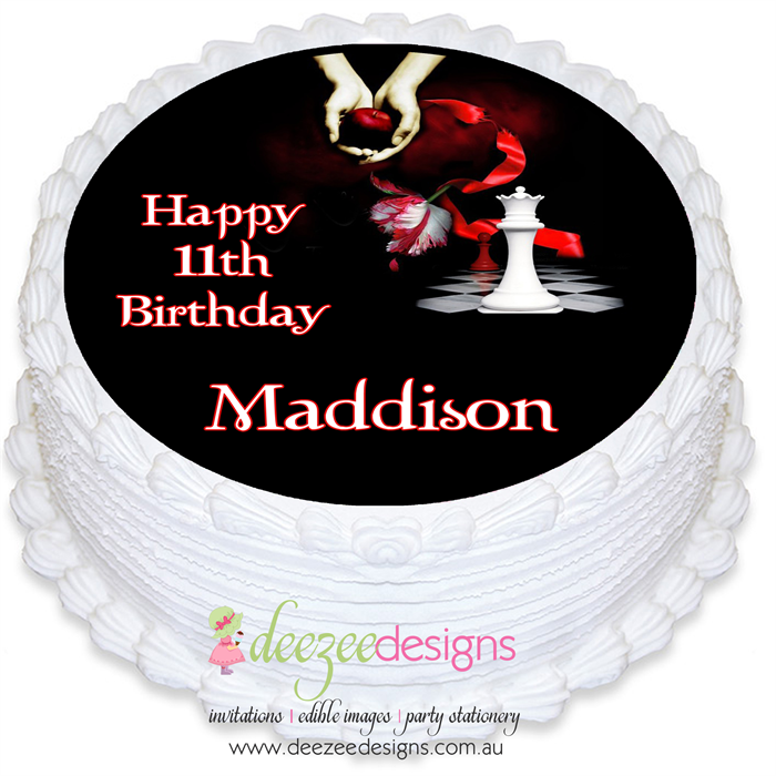 PRE-CUT Twilight Round Edible Icing Cake Topper