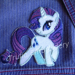 """Diamond Pony"" Iron-on Badge"