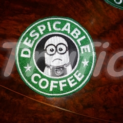 "Starbuck inspired ""Minion"" Drink Coaster"