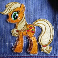 """Apple Orchard Pony"" Iron-on Badge"