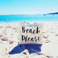 Extra Large Beach Tote Bag , Oversized Beach Bag , Canvas Tote , Beach Please