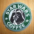 """Starbuck inspired """"Darth Vader"""" Drink Coaster"""