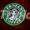 "Starbucks inspired ""Frozen"" Drink Coaster"