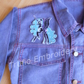 """""""Night Moon Unicorn"""" Iron-on Badge"""