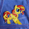 """Shimmery Pony"" Iron-on Badge"