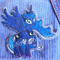 """Princess Moon Unicorn"" Iron-on Badge"