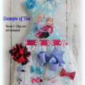 Tutu Dress Hair Bow/Clip Holder, Girls Décor, Wall Décor, Gift, Nursery Décor