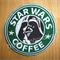 "Starbuck inspired ""Darth Vader"" Drink Coaster"