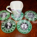 "Starbuck inspired ""Ursula"" Drink Coaster"