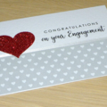 Engagement card - grey & red