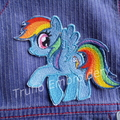 """""""Rainbow Pony"""" Iron-on Badge"""