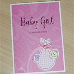 Baby Girl Card - cute baby girl!