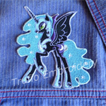 """Night Moon Unicorn"" Iron-on Badge"