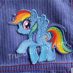 """Rainbow Pony"" Iron-on Badge"