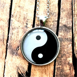 Yin & Yang Pendant | silver or bronze | gift | MY004