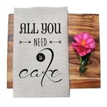 All You Need is Cake Tea Towel in Oatmeal