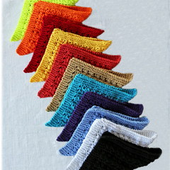 Enviro friendly dishcloths: rainbow colour for your kitchen