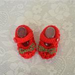 Mary Jane Baby Shoe Booties