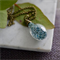 Blue German Glass Glitter Teardrop Necklace