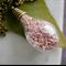 Pink German Glass Glitter Teardrop Necklace