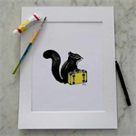 Travelling Squirrel Print