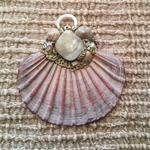 Aphrodite sea love goddess shell mother of pearl organic artisan mermaid pendant