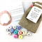 Make it yourself necklace gift kit-handcrafted clay beads- mosaic pastel