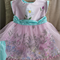 Floral Dress & Tulle Over Skirt & Pants Set ♡ Size18 Months - 2 Y ☆ One Off ☆