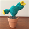 Crochet Mini Prickly Pear Cactus - Flower - Gift Idea - Decoration - Succulent
