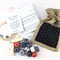 Make it yourself necklace gift kit-handcrafted clay beads- indigo & red kimono