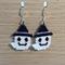 Halloween Ghost Beaded  Earrings