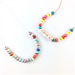 Make it yourself 2 necklace gift kit- brights and pastels handcrafted clay beads