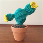 Crochet Mini Prickly Pear Cactus - Flower - Gift Idea - Decoration - Succulent