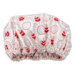Linen Daisy print Women's luxury Shower Cap