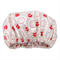 Linen Daisy print Women's luxury Shower Cap
