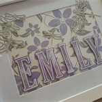 Personalised Name Frame - Dragonflies in Flight