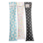 Toothbrush Travel Bag waterproof and washable black and white polka dots.