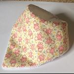 Pretty vintage inspired baby bib bandana Cream/Pink