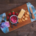 (Lisa) Resin Serving Board - custom poured in your choice of colours.