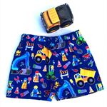 """Sizes 6 to 9 months, 1 and 2 """"Construction Workers"""" Shorts"""