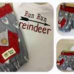 SUPACOOL MAVERICK BLOOMIE/ONSIE SET 'Run Run Reindeer' Shorts, Christmas