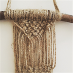 Mini Macrame Wall Hanging - Jute - Bead - Boho - Bohemian - Knot
