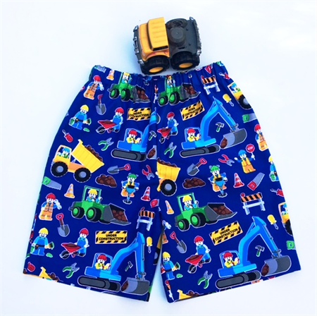 "Size 1 and 2 - ""Construction Workers"" Shorts"