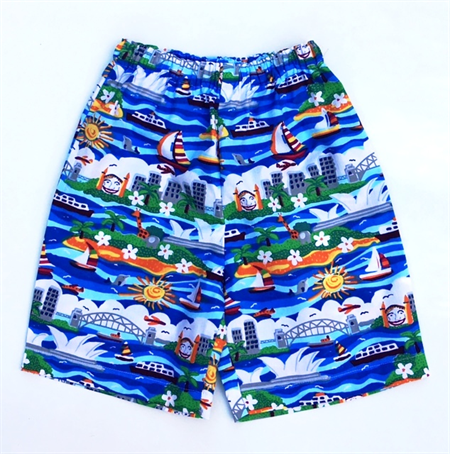 "Sizes 4, 5 and 6 - ""Sights of Sydney"" Shorts"