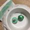 Metallic Green Wooden Stud Earrings