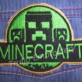 """Minecraft"" inspired Iron-on Badge"